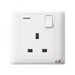 LS V5 1 gang single pole neon indicator socket 13a