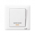 """LS V5  neon indicator label """"water heater"""" 20a switch"""