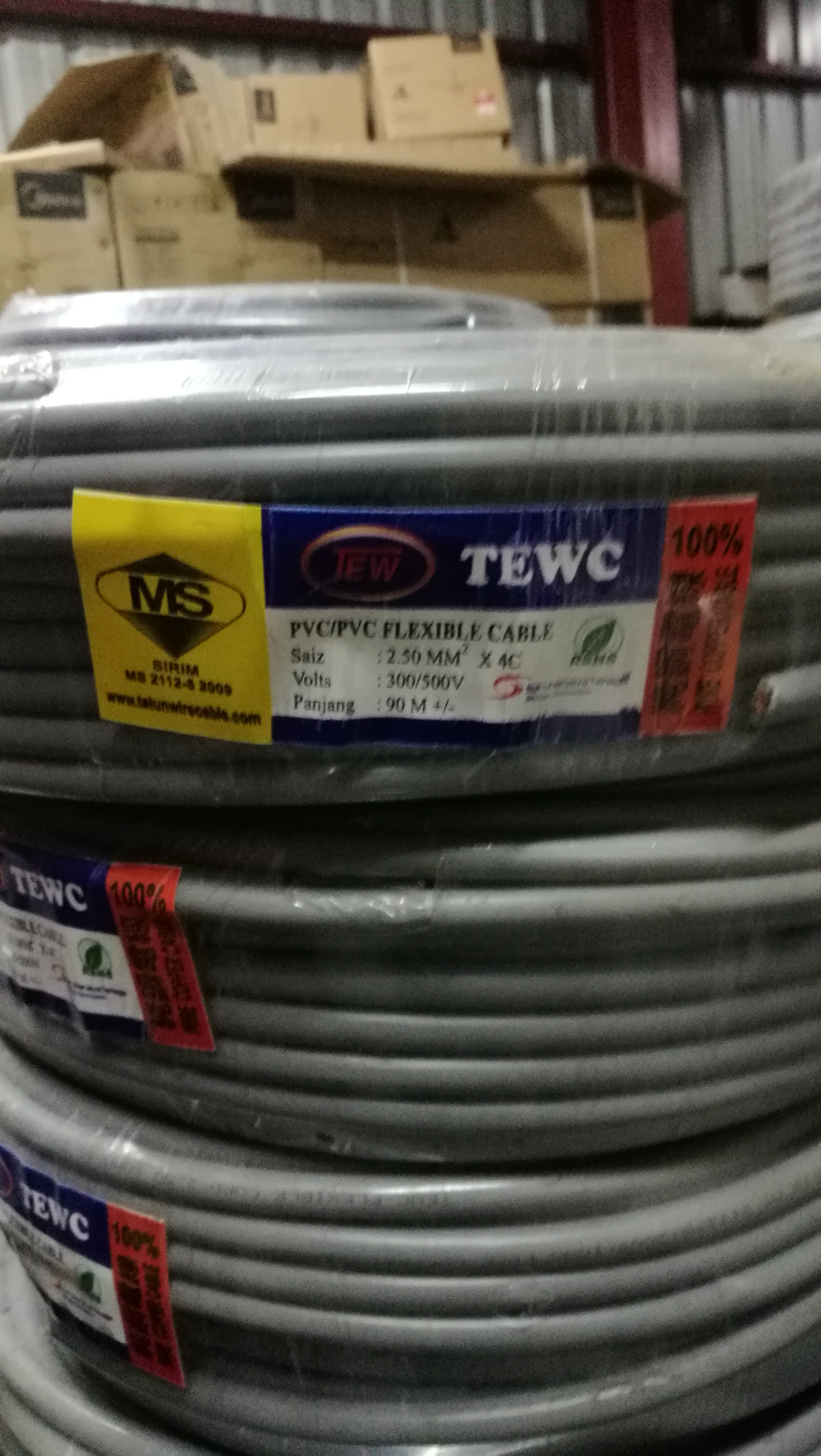 Tewc flexible cable (1.5mm ,2.5mm 4core )