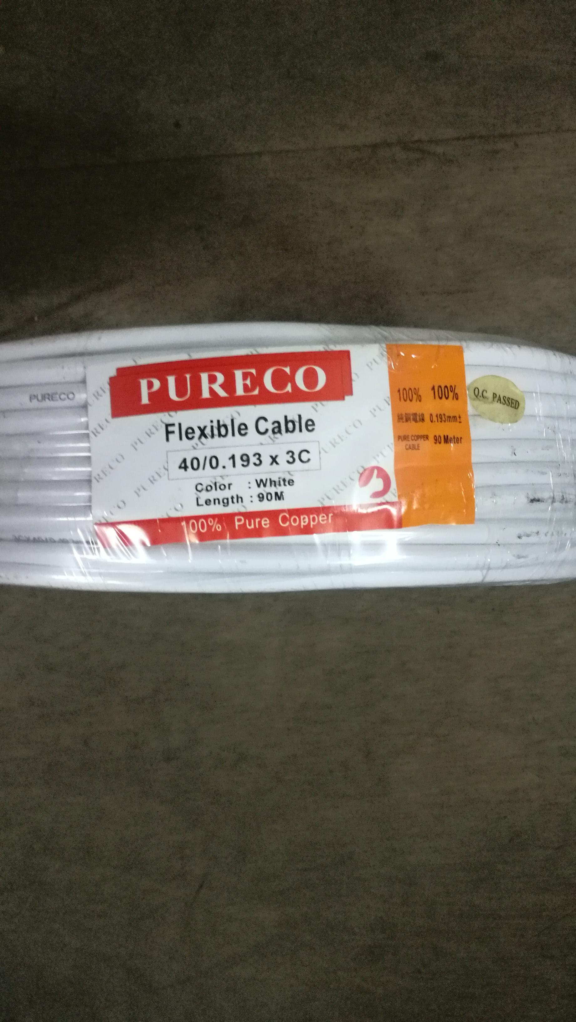 Pureco flexible cable (40/0.193 3core )