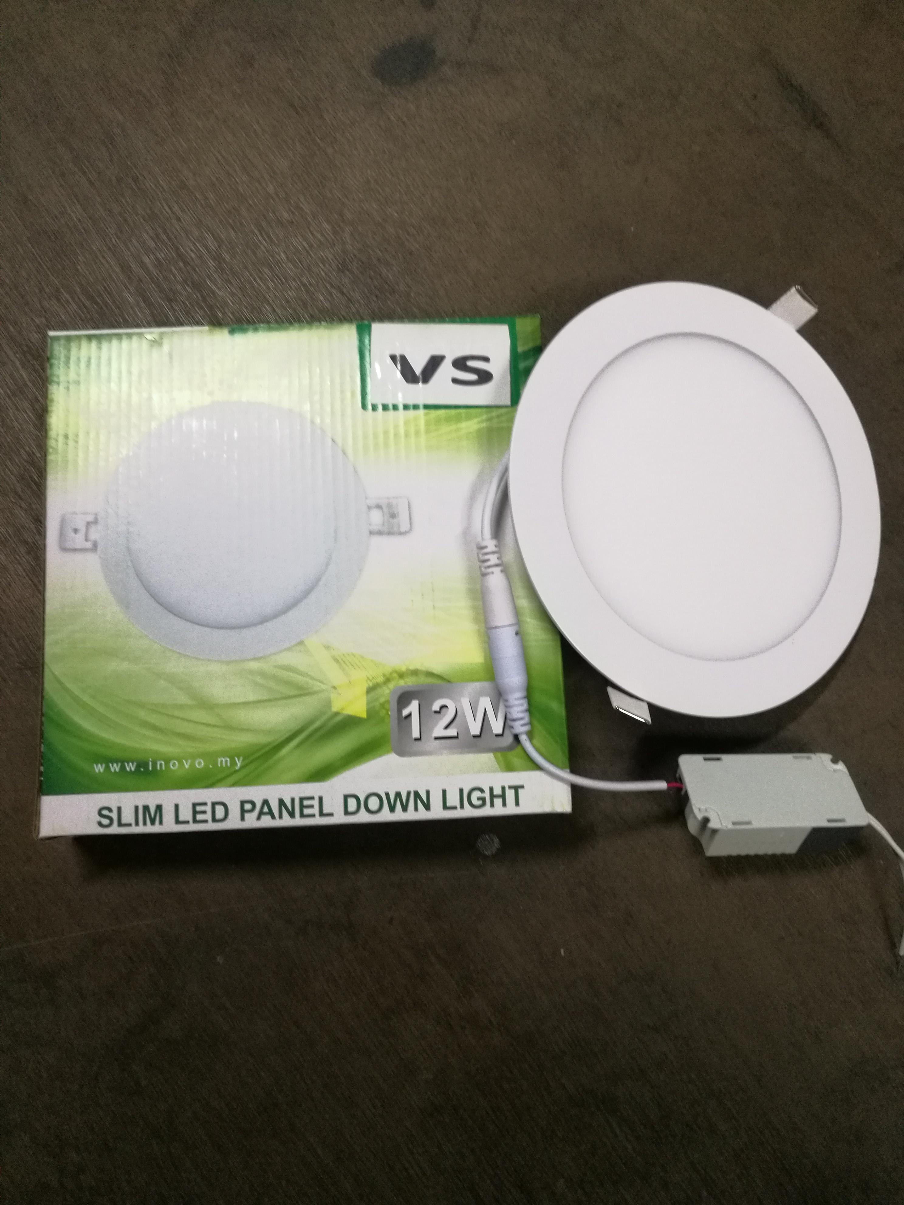 Vs slim led panel downlight 12w